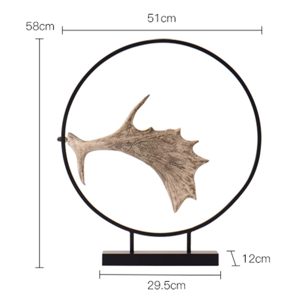 Metal Ornaments for The Home-Antler Wrought Iron Crafts Creative Home Living Room Foyer Decoration Gifts 5158