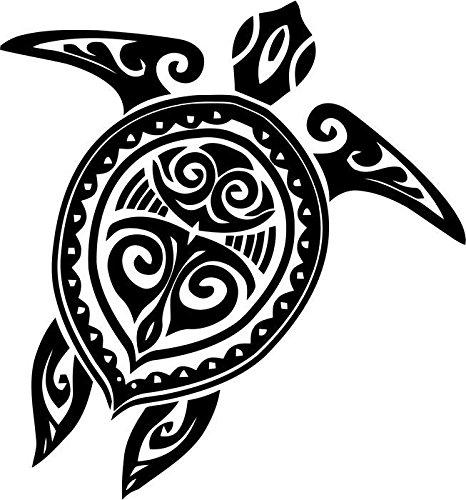 Sea Turtle Tribal Wildlife Vinyl Decal Sticker Car Window Bumper Decor- 6
