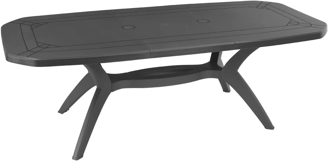 Grosfillex Table extensible 220x100 ibiza taupe Anthracite ...