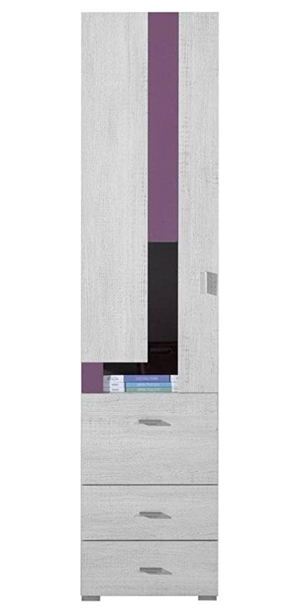 Armadio per cameretta viola 195 x 45 x 40 cm: Amazon.it: Fai da te