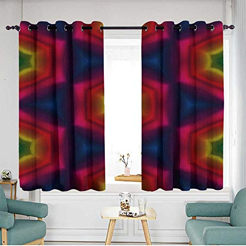 (Living Room/Bedroom Window Curtains Darkening Thermal Insulated Blackout W 55