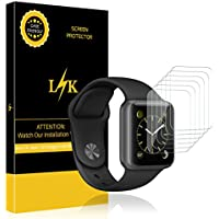 [6 Pack] LK for Apple Watch Screen Protector (38mm Series...