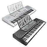 Hamzer 61 Key Electronic Music Piano Keyboard - Silver