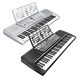 hamzer 61 key electronic music electric keyboard piano black musical instruments. Black Bedroom Furniture Sets. Home Design Ideas