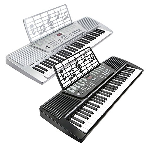 hamzer 61 key electronic keyboard piano silver buy online in uae hamzer products in the. Black Bedroom Furniture Sets. Home Design Ideas