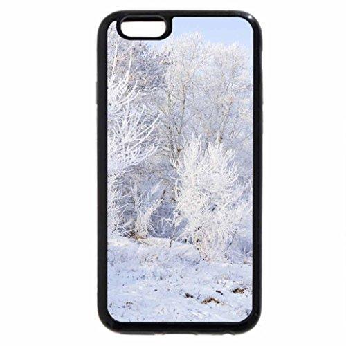 iPhone 6S Case, iPhone 6 Case (Black & White) - Winter Whiteness