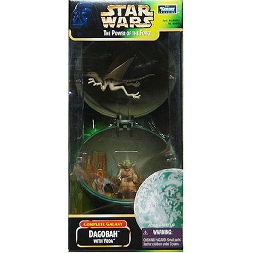 Star Wars The Power of the Force Complete Galaxy Dagobah with Yoda Action Figure 3.75 Inches