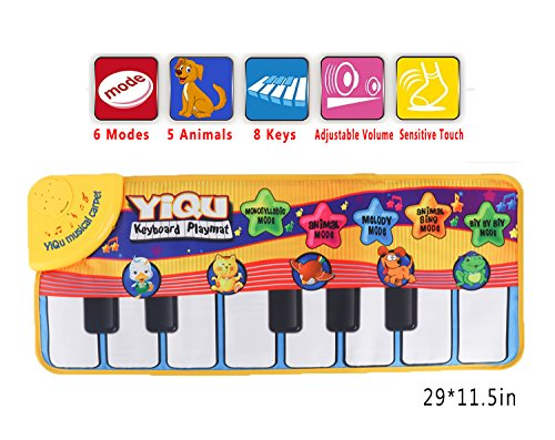 Image of the Floor Piano Mat Toy Piano Play Mat for Kids Babies Toddlers Animal Musical Toy Multi Function Step on Dace Piano Mat
