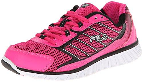 Fila Women's Hyper Split 4 BC Running Shoe, Pink Glo/Black/White, 7.5 M US