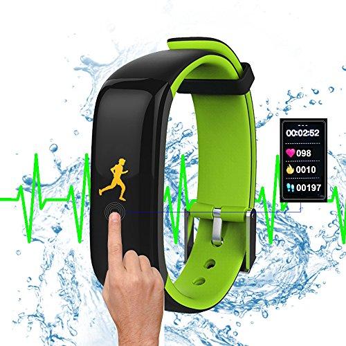 ROGUCI I5 Plus - Reloj Smart Watch con pantalla táctil, podómetro, seguimiento calorías, sleep monitor, carga USB para Android y Apple iPhone, negro