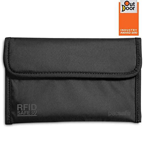 Pacsafe Luggage Rfidsafe 50 RFID Passport Protector, Black