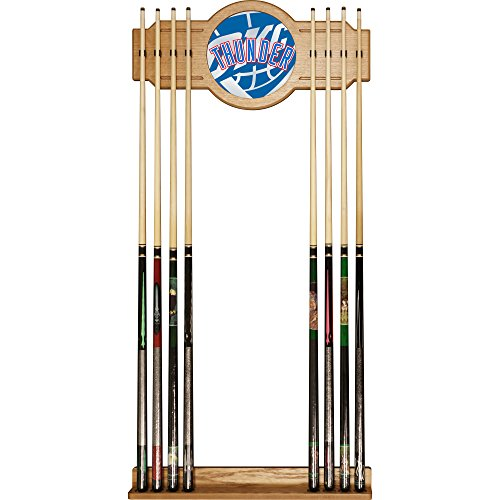 Trademark Gameroom NBA6000-OCT2 NBA Cue Rack with Mirror - Fade - Oklahoma City Thunder by Trademark Global