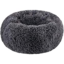 Pet Bed Fashion Dog Bed Kennel Small Cat Sleeping Bag Pet Puppy Round Bed House Soft Warm Pad Nest Washable Cushion (L)