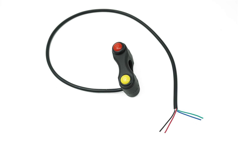 Interruttore Moto Auto Moto Elettriche Switch 2 Pulsante con ritorno automatico Con autobloccante interruttore di avviamento Horn Interruttore Moto 7//8 22 millimetri manubrio Interruttore Compatibile