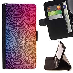 """Bright-Giant (Modelo de la cebra vibrante Vignette Negro Blanco"""") Modelo Colorido Cuero Carpeta Tirón Caso Cubierta Piel Holster Funda Protección Para Apple (5.5 inches!!!) iPhone 6+ Plus / 6S+ Plus"""