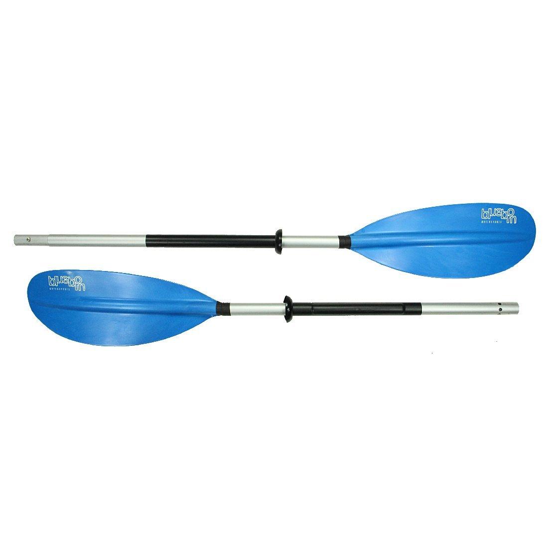 aluminium double paddle 230cm 1085g asymmetrically adjustable paddle sheets Blueborn KWB 230-2