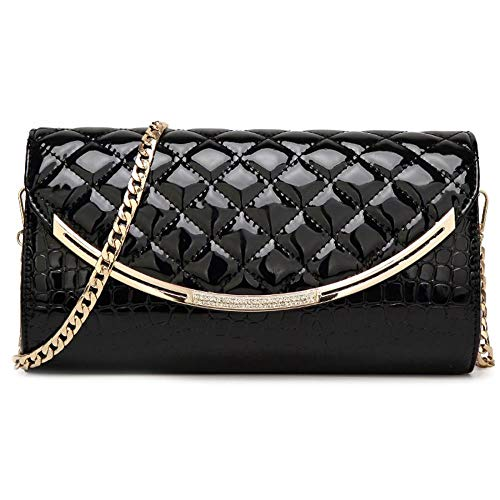 Envelope Flap Clutch Black Wallet Metal Handbag Women Party Black Accent Purse Wedding Shoulder Daily Shopping Ball Prom Bag for Bag SIMANLI for Evening Evening Life zqgEw5