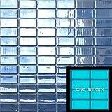 Glow in The Dark Glass Tile Mosaic.Series Foto Luminosa (Single Sheet, 106 Dark Blue 1x2)