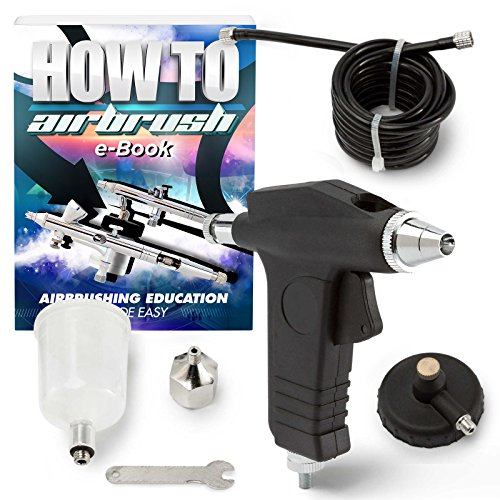 PointZero Trigger-Style Single-Action 2cc Gravity-Feed Airbrush Set - .3 mm (Trigger Airbrush Kit)