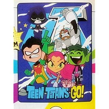 We Go Micro Raschel Throw Blanket 46 x 60 Multi Color Warner Brothers DC Comics Teen Titans Go