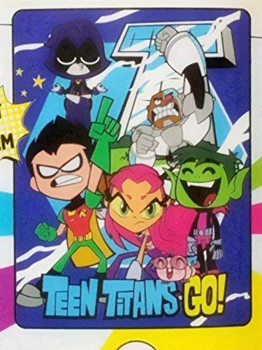 Warner Brothers DC Comics Teen Titans Go, ''Unfinished Titans'' Micro Raschel Throw Blanket, 46'' x 60'', Multi Color