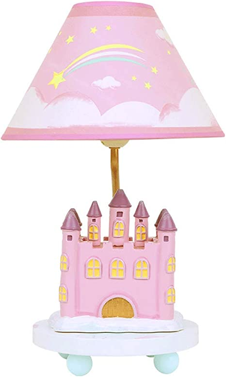 Princess Castle Table Lamp Girl Bedroom Bedside Lamp Pink Children S Room Creative Cute Decorative Table Lamp Warm Romantic Dimmable Night Light Amazon Com