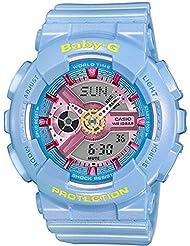 Casio Womens BA-110CA-2A Baby-G Analog/Digital Quartz Light Blue Watch