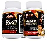 FUZE Garcinia Cambogia & Colon Cleanser Detox Diet Pills 80% HCA Appetite Suppressant Weight Loss Supplement