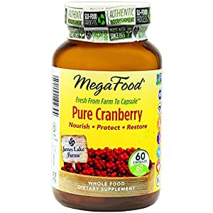 MegaFood - Pure Cranberry, Supports Immune Defenses and Urinary Tract Health, 60 Capsules (FFP)