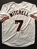 "Autographed/Signed Kevin Mitchell ""NL MVP 1989"" San Francisco Giants White Baseball Jersey JSA COA"
