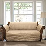 Lush Decor Joyce Furniture Protector for Loveseat, Taupe