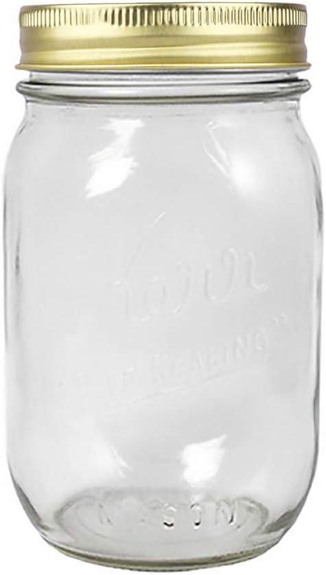 24 Pieces Mason Jar Lids Leak-Proof Storage Cap,Wide Mouth Mason Ball Jar Lids and Bands,Split-Type Jar Lids Rust Proof Pickling Canning Jar Lid 70mm 12 Gold+12 Silver