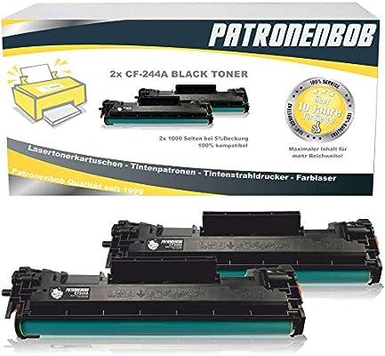 2 Cartuchos de tóner compatibles con CF-244A HP 44A Negro tóner ...
