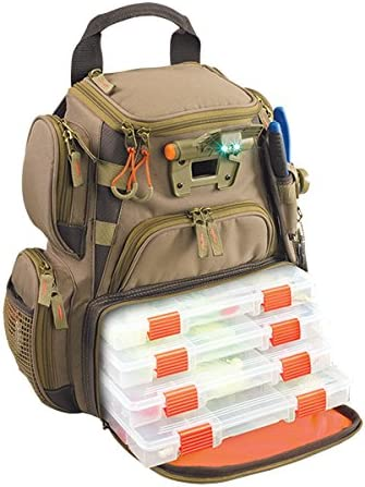 Amazon.com : Wild River by CLC WT3503 Tackle Tek Recon Lighted Compact Tackle Backpack & Four PT3500 Trays, Clear, Water-Resistant Phone Storage : Fishing Backpack : Sports & Outdoors