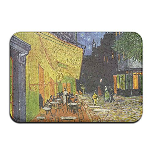 - DDIAN Cafe Terrace At Night By Vincent Van Gogh Non Slip Mat, Kitchen, Toilet, Laundry, Bedroom Or Pet Mat.