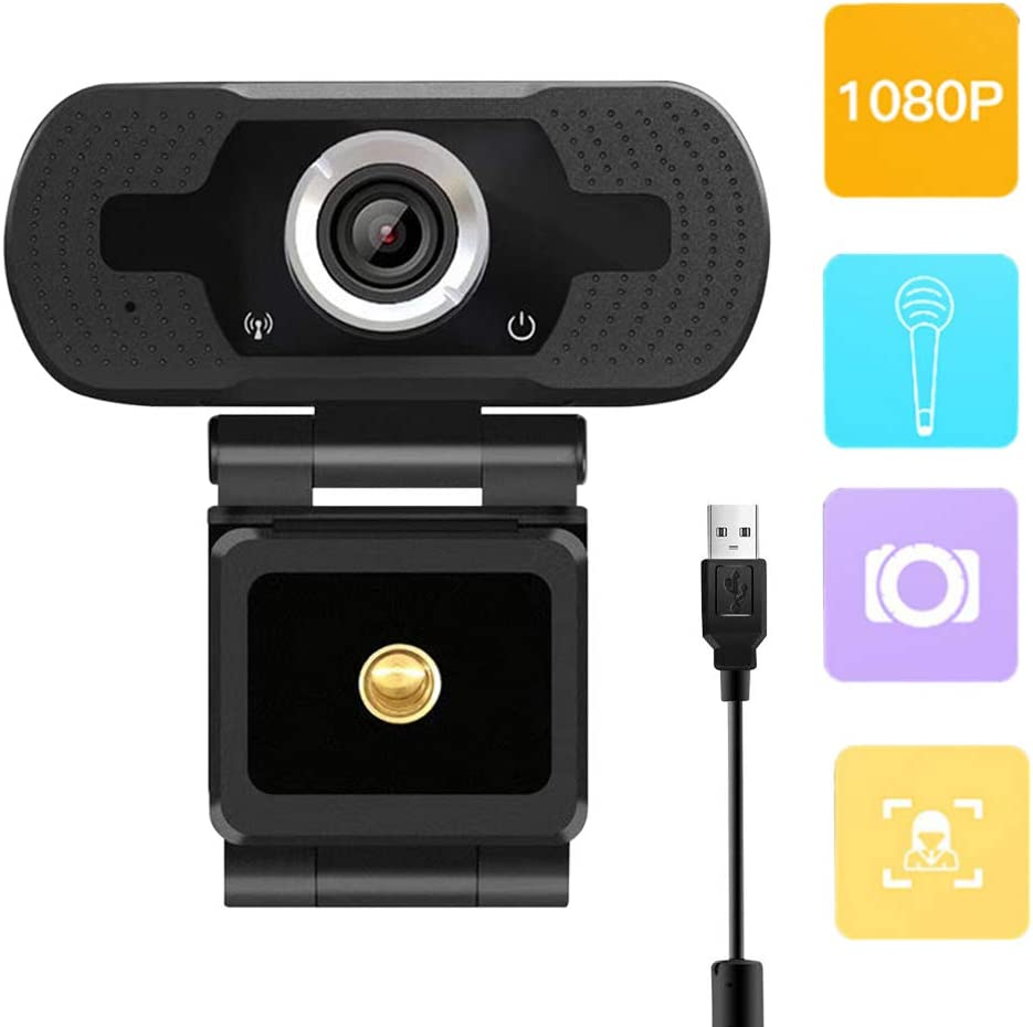 Amazon Com Webcam 1080p Usb Webcam With Microphone Pro Steaming Hd 4k Web Cam For Computer Pc Laptop Video