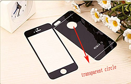 Tempered Front and Back Glass Screen Protector for iPhone SE/5S/5 - 3