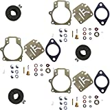 3 Pack of Deluxe Venom Brand Carburetor Carb Rebuild Repair Kit w FLOAT Fits MANY Johnson Evinrude 18 20 25 28 30 35 40 45 48 50 55 60 65 70 75 HP Outboard Motors (SEE CHART For Fitment)