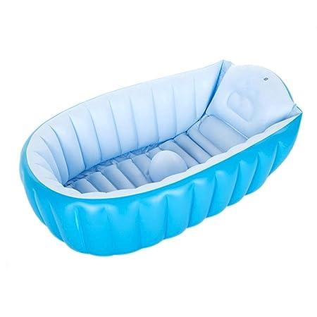QIQIDEDIAN Bañera Inflable Niños Plástico Bañera de bebé ...