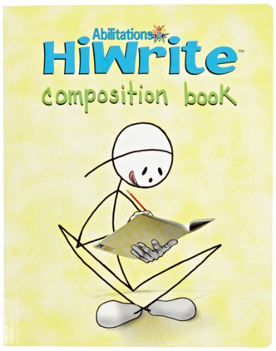 Abilitations 1330101 Hi-Write Composition Notebook, 160 Pages/80 Sheets, Yellow/White, 9-1/2 in L X 7-1/2 in W ()