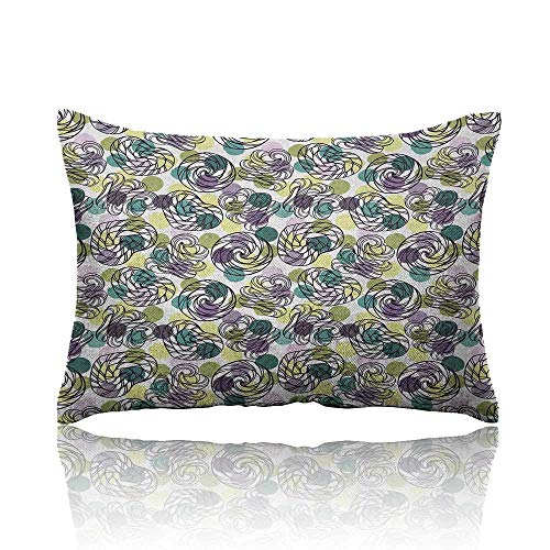 Anyangeight Abstract Small Pillowcase Outline Lollipop Candy Figures