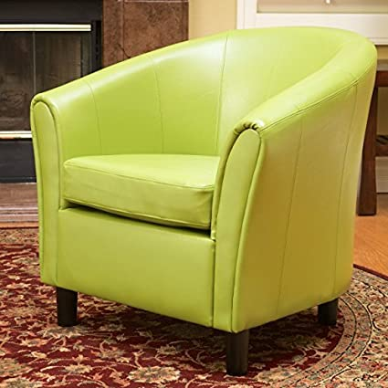 Beau Newport Lime Green Leather Club Chair