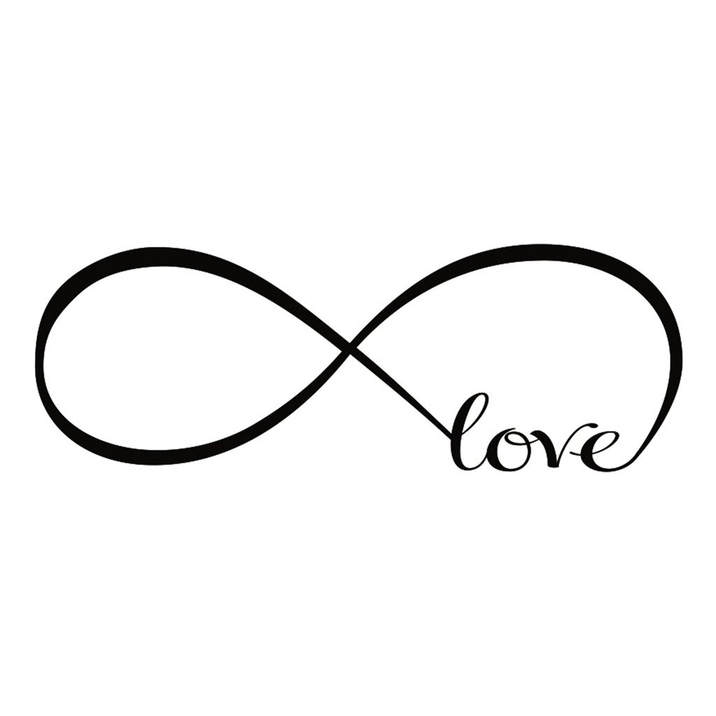 Chendongdong Personalized Infinity Symbol Family Love Bedroom Wall