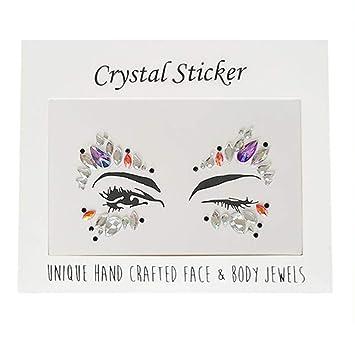 17db7d6422 Amazon.com : SAKLL Temporary Rhinestone Tattoo Stickers Face Jewels ...