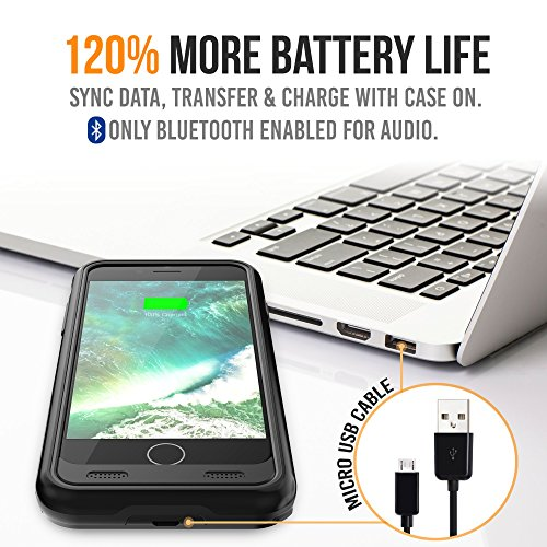 more photos bd2df 1ad71 Battery Case for iPhone 8/iPhone 7, Alpatronix BX170 3200mAh Slim  Protective Portable Extended Charger Cover External Rechargeable Backup  Charging ...