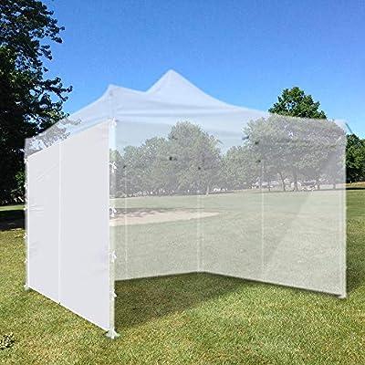 Bei Cheng Canopy Tent Side Wall 10x10 Ft Pop Up Party Tent Sun Wall Sidewall Shelter with Zipper : Garden & Outdoor
