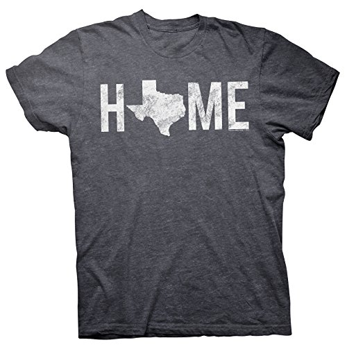 Texas is Home - Proud Texan Lone Star State Distressed T-Shirt - Dk. Heather-Md
