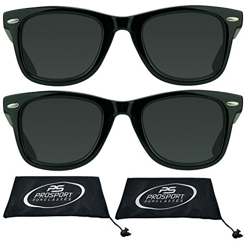 Classic Wayfarer Reading Sunglasses for Men and Women. (Black 2 Pair Combo, - Ii Wayfarer Sunglasses