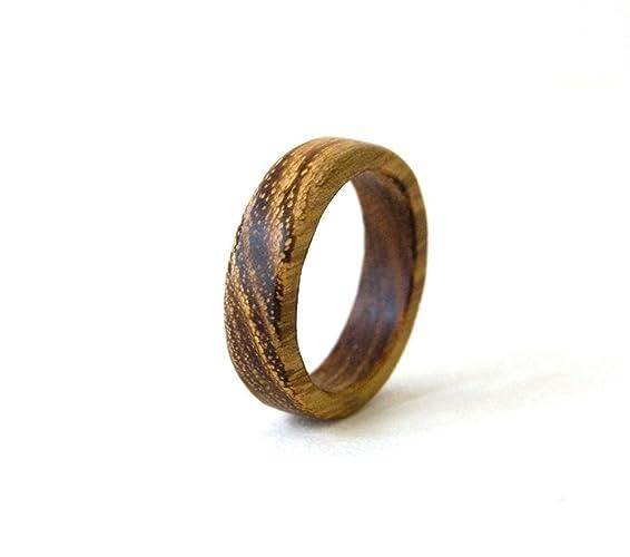 Amazon.com: Acacia Wood Ring, Wood Ring, Wood Band, Men Ring ...
