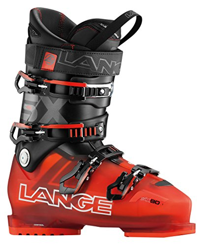 Lange SX 90 Ski Boots 2017 - 30.5/Transparent Red-Black